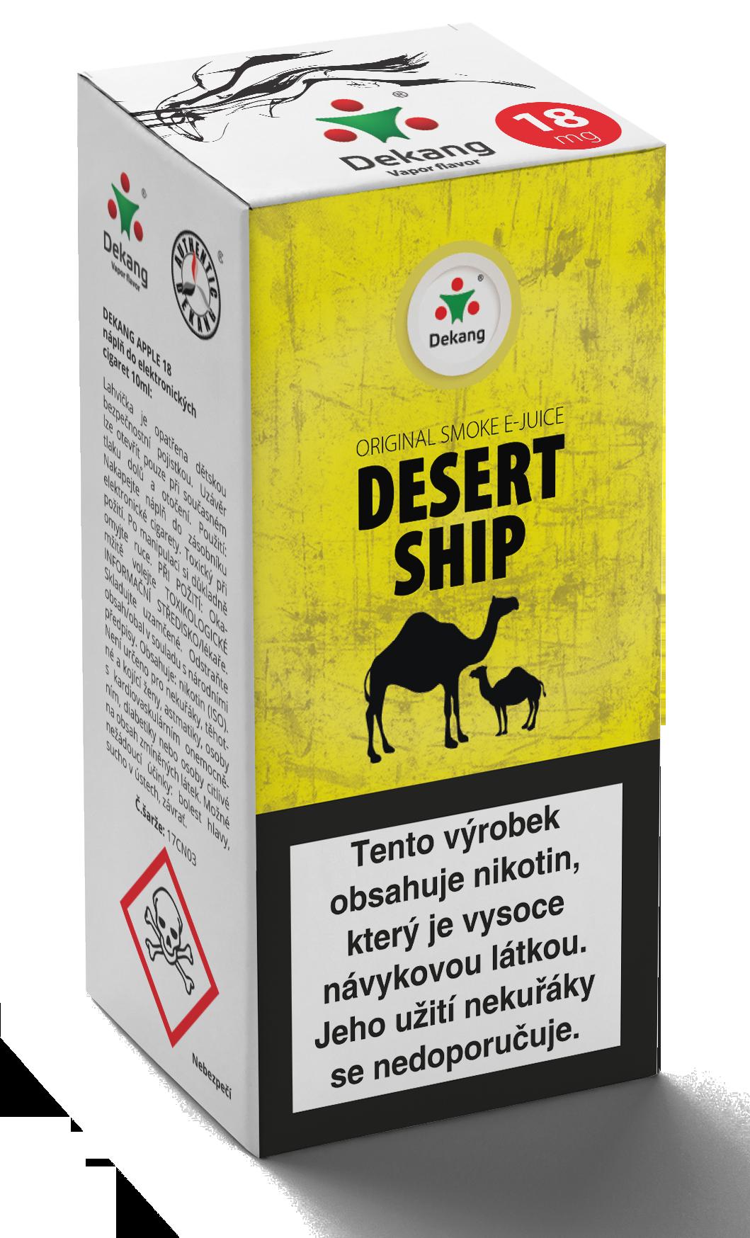 E-liquid Dekang 10ml Desert ship Množství nikotinu: 0mg