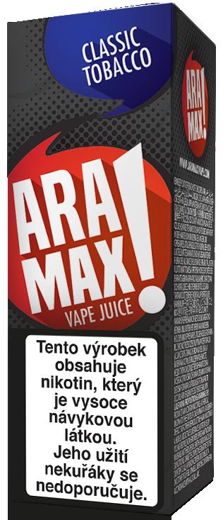 E-liquid ARAMAX Classic Tobacco 10ml Množství nikotinu: 0mg