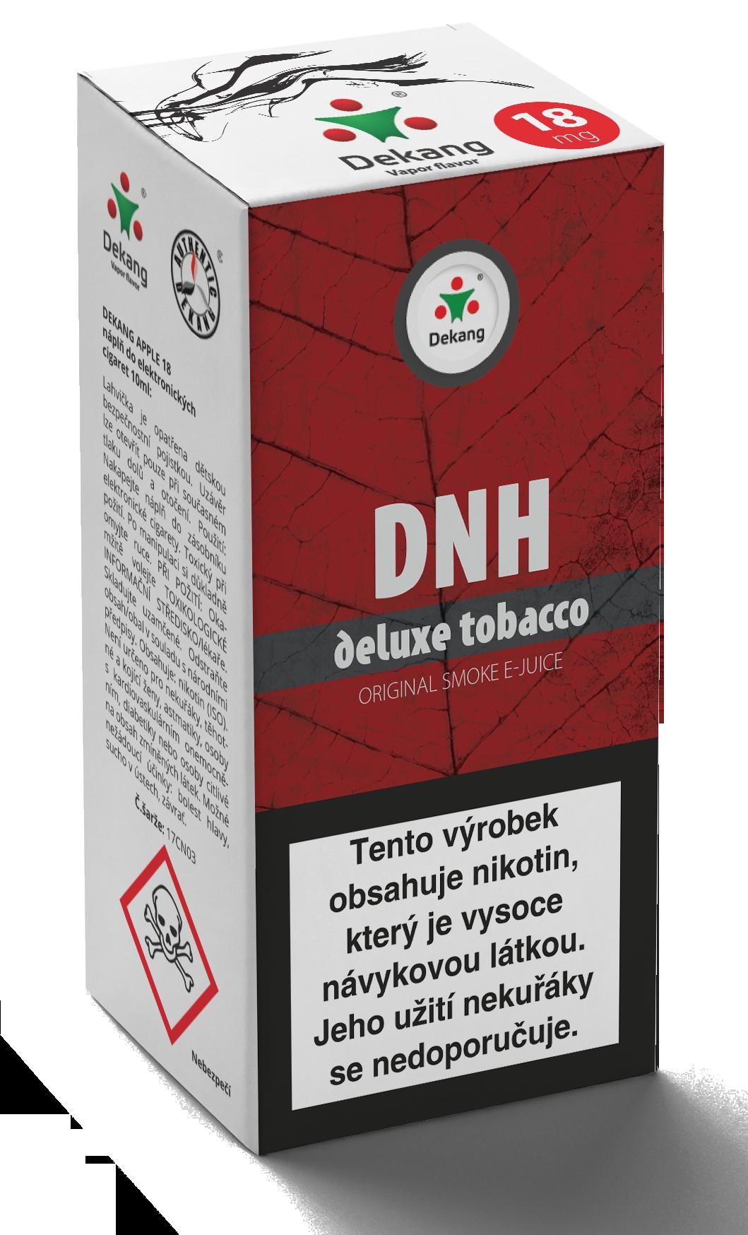 E-liquid Dekang 10ml DNH - deluxe tobacco Množství nikotinu: 0mg