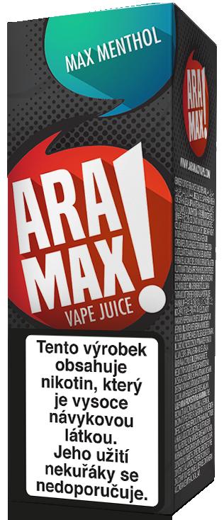 E-liquid ARAMAX Max Menthol 10ml Množství nikotinu: 0mg