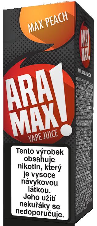 E-liquid ARAMAX Max Peach 10ml Množství nikotinu: 0mg