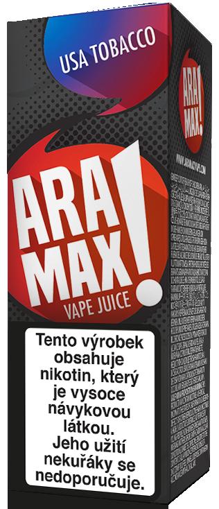 E-liquid ARAMAX USA Tobacco 10ml Množství nikotinu: 0mg