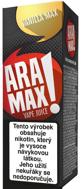 E-liquid ARAMAX Vanilla Max 10ml Množství nikotinu: 0mg