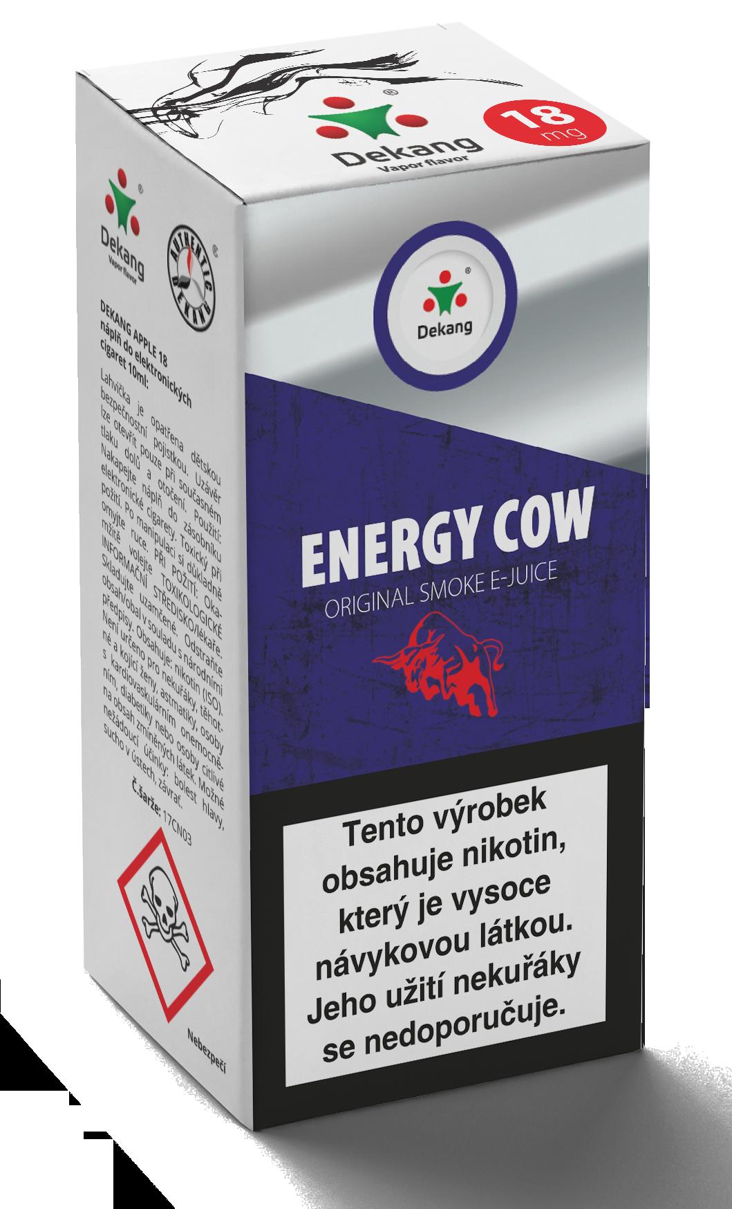 E-liquid Dekang 10ml Energy Cow Množství nikotinu: 0mg