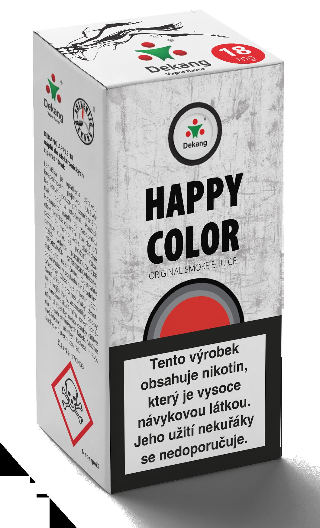 E-liquid Dekang 10ml Happy color Množství nikotinu: 0mg