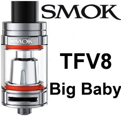Smoktech SMOK TFV8 Big Baby clearomizér Stříbrná 5,0ml