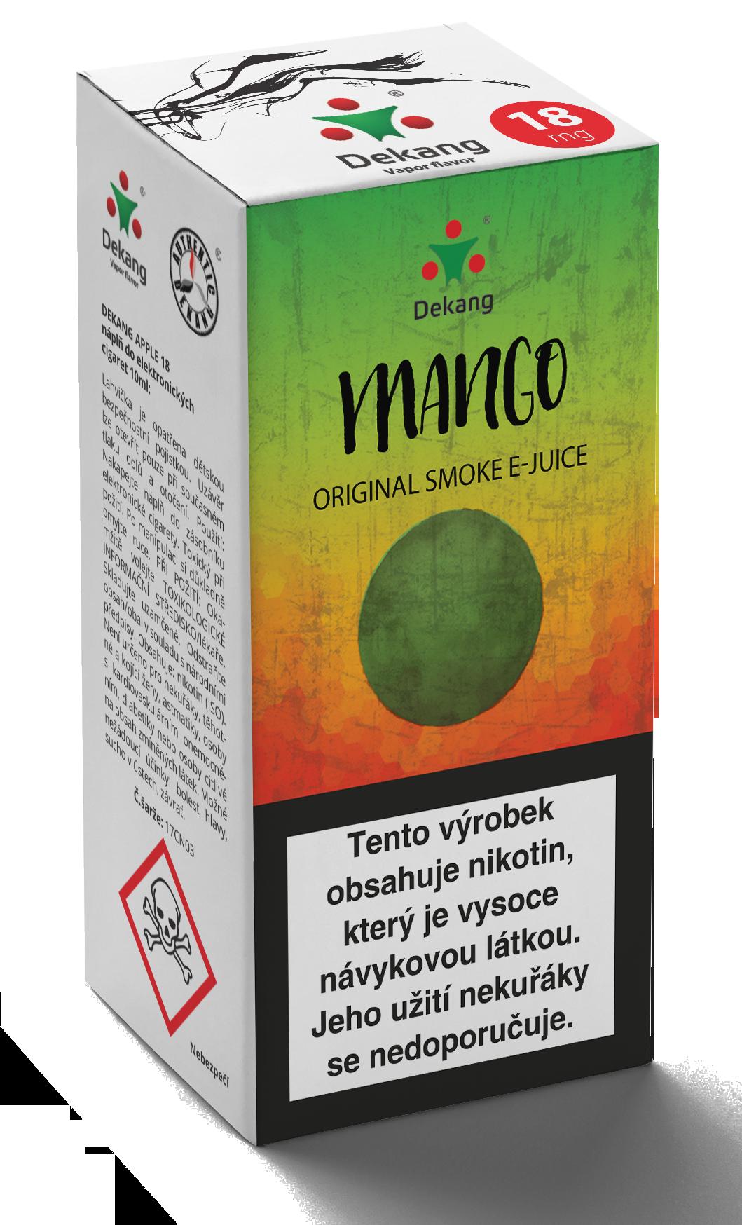 E-liquid Dekang 10ml Mango Množství nikotinu: 0mg