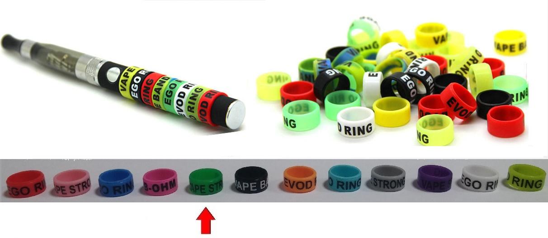 Silikonový ochranný dekorativní kroužek eGo - zelený 1ks