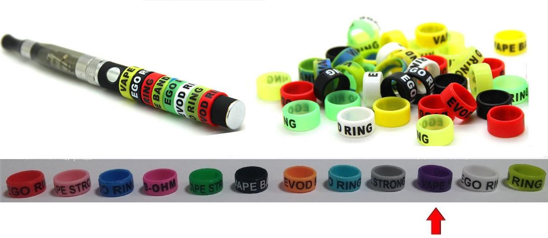 Silikonový ochranný dekorativní kroužek eGo - fialový 1ks