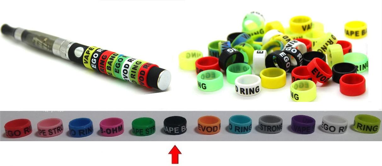 Silikonový ochranný dekorativní kroužek eGo - černý 1ks