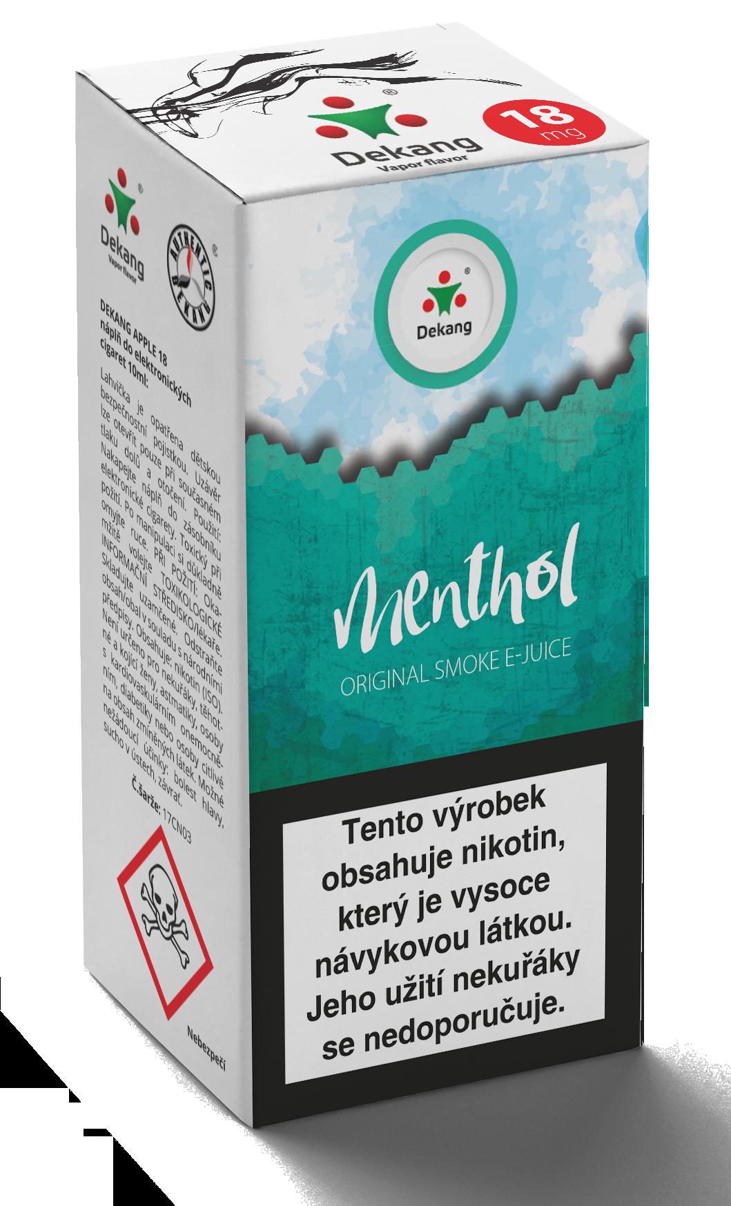 E-liquid Dekang 10ml Menthol - Mentol Množství nikotinu: 6mg