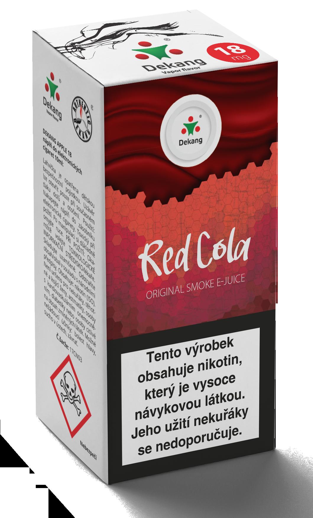 E-liquid Dekang 10ml Red Cola - Kola Množství nikotinu: 0mg