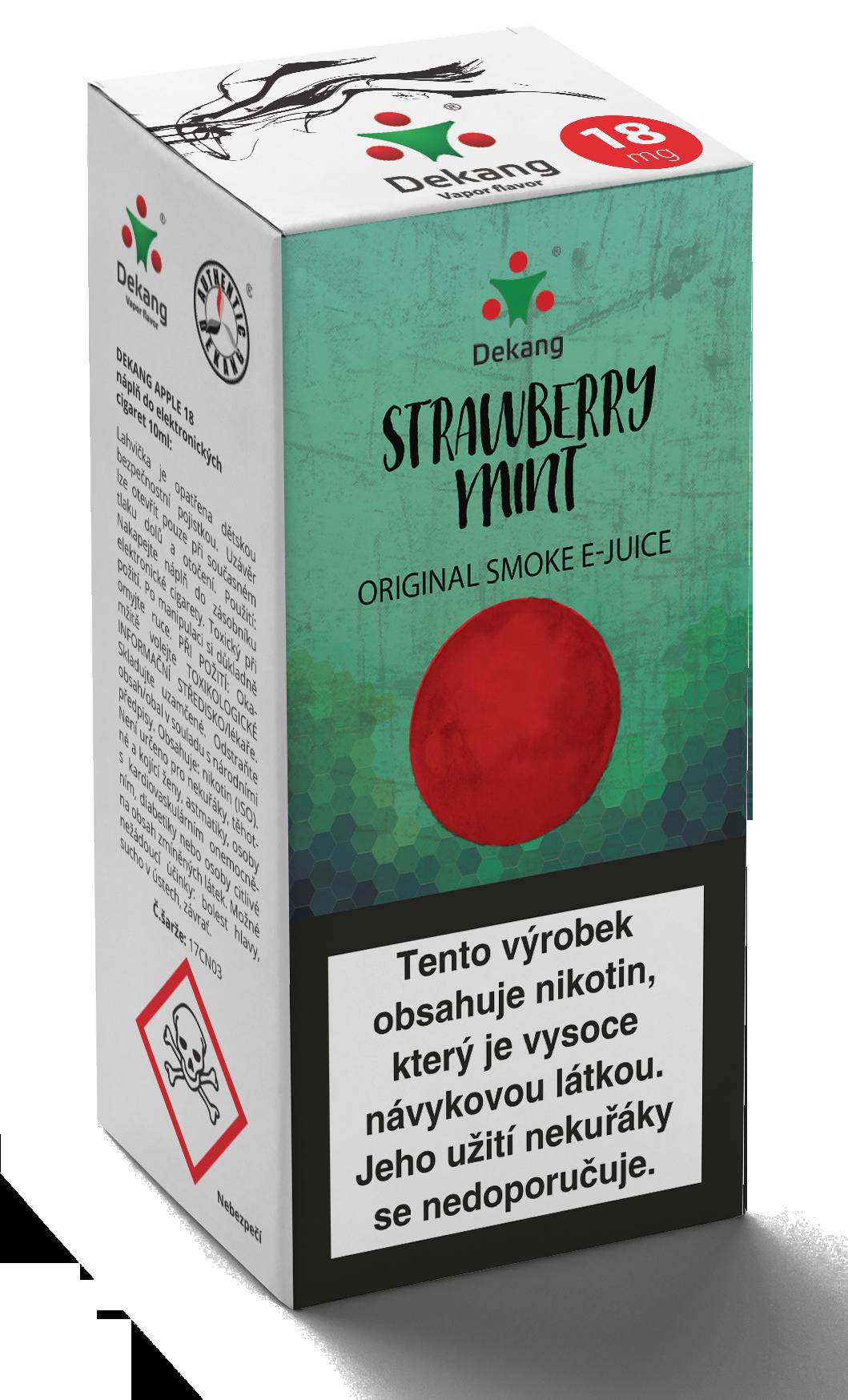 E-liquid Dekang 10ml Strawberry mint - Jahoda s mátou Množství nikotinu: 16mg