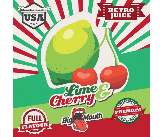 Příchuť Big Mouth RETRO - Limetka a Cherry 10ml