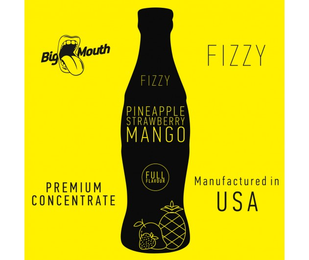 Příchuť Big Mouth FIZZY - Ananas, Jahoda, Mango 10ml