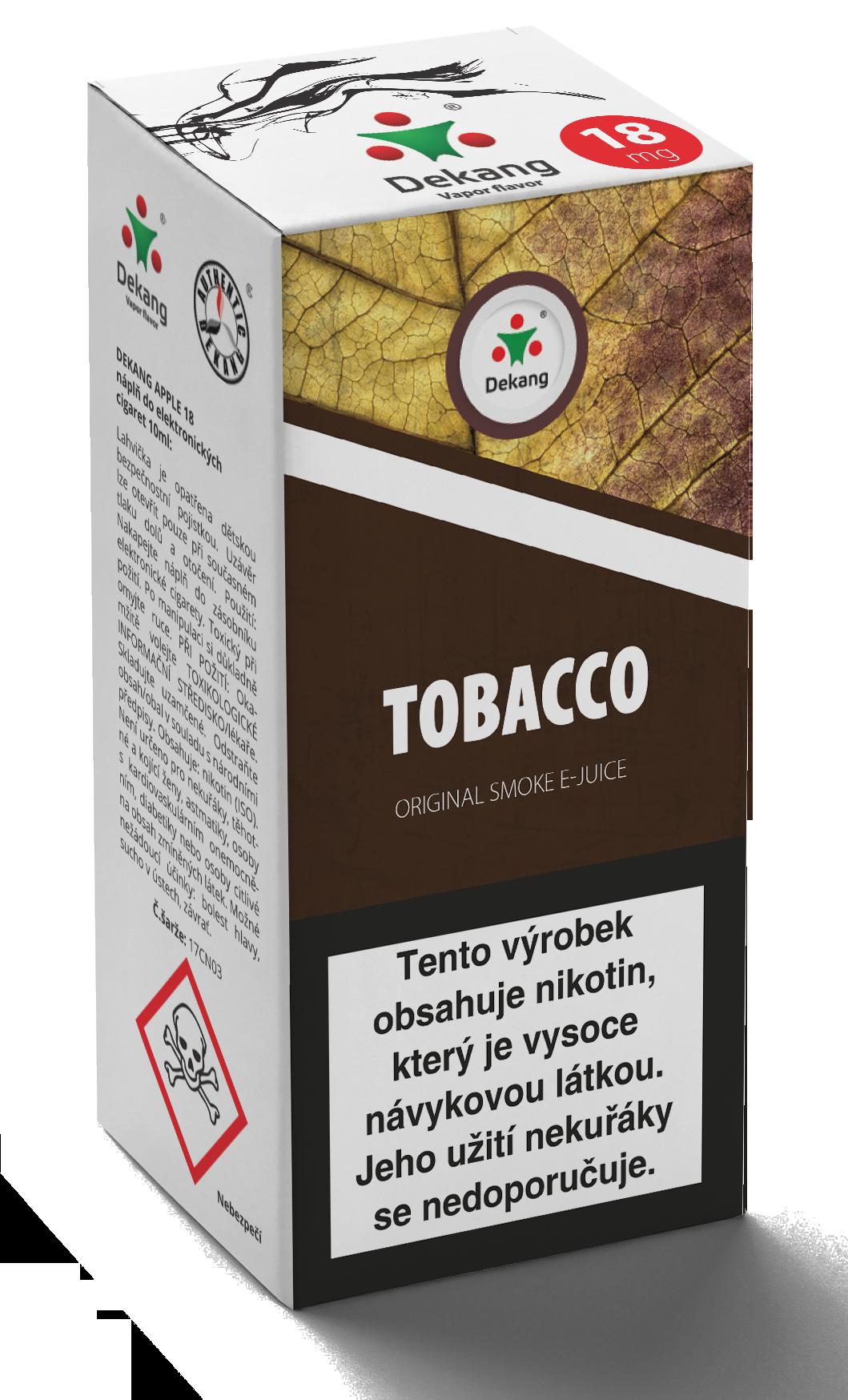 E-liquid Dekang 10ml Tobacco - tabák Množství nikotinu: 16mg