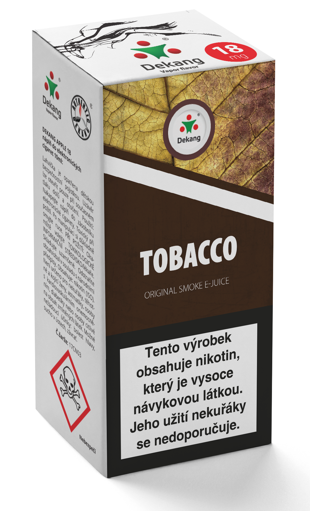 E-liquid Dekang 10ml Tobacco - tabák Množství nikotinu: 18mg