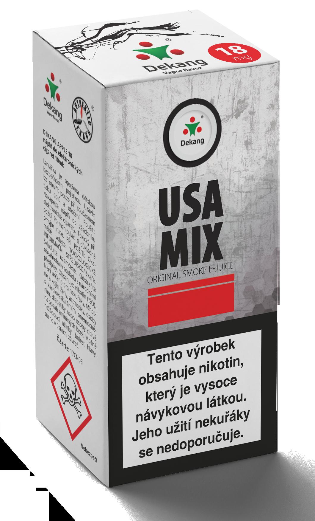 E-liquid Dekang 10ml USA MIX Množství nikotinu: 18mg