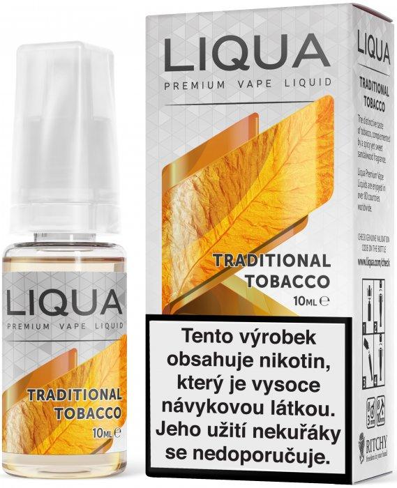 E-liquid LIQUA Elements Traditional Tobacco 10ml (Tradiční tabák) Množství nikotinu: 0mg