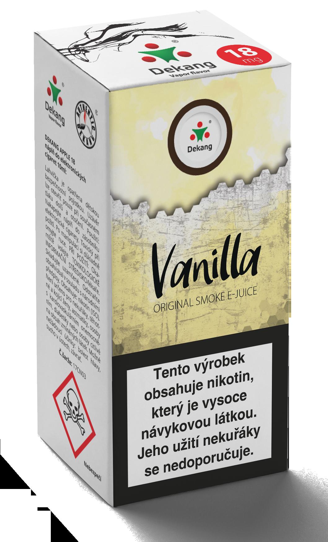 E-liquid Dekang 10ml Vanilla Vanilka Množství nikotinu: 3mg
