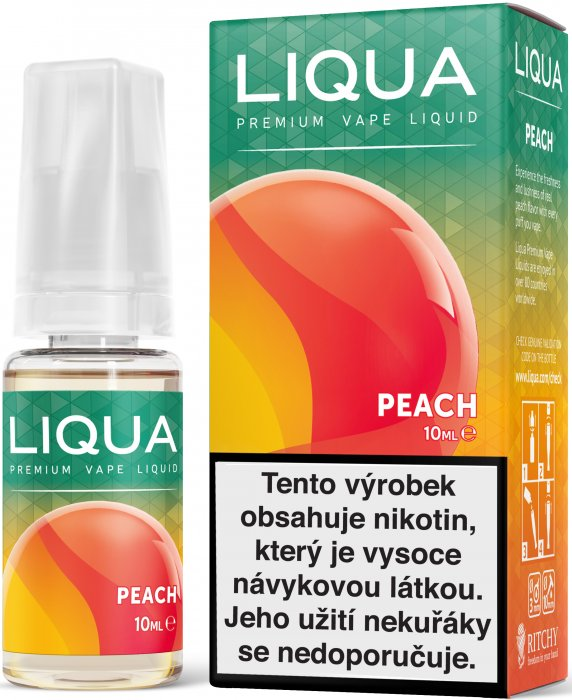 E-liquid LIQUA Elements Peach 10ml (Broskev) Množství nikotinu: 0mg