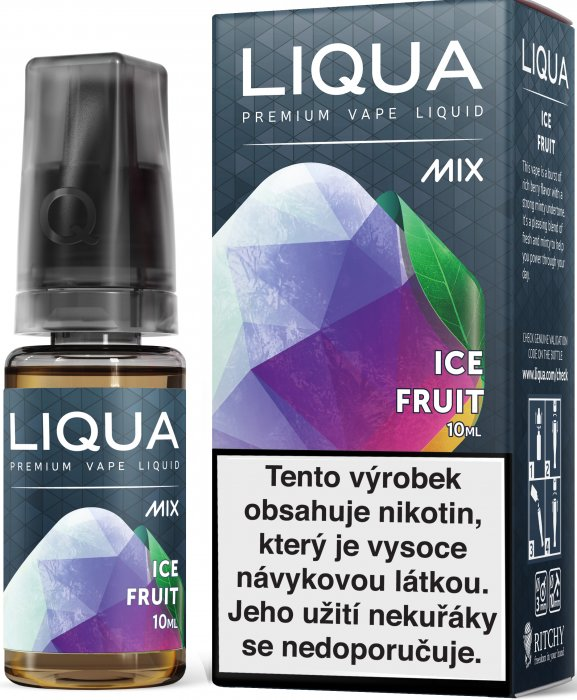 E-liquid LIQUA MIX Ice Fruit 10ml (Směs ovoce s mátou) Množství nikotinu: 0mg