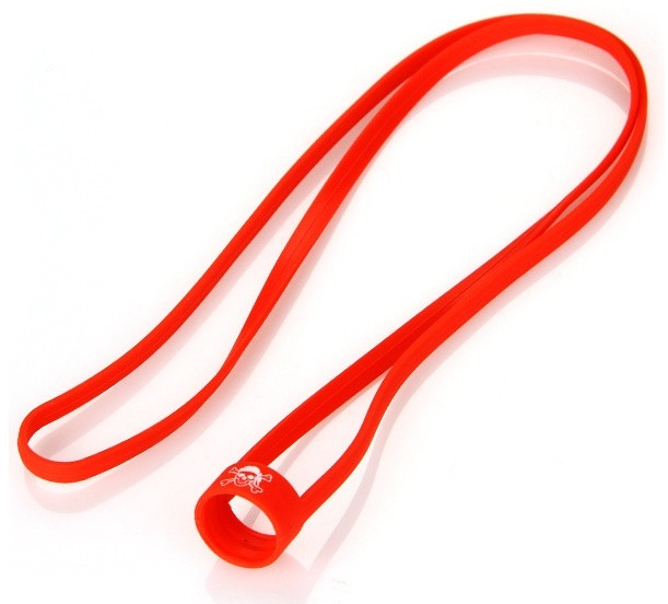 Univerzální silikonová šňůrka na krk červená 1ks