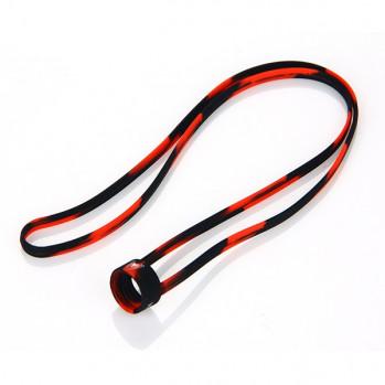 Univerzální silikonová šňůrka na krk černo-červená 1ks