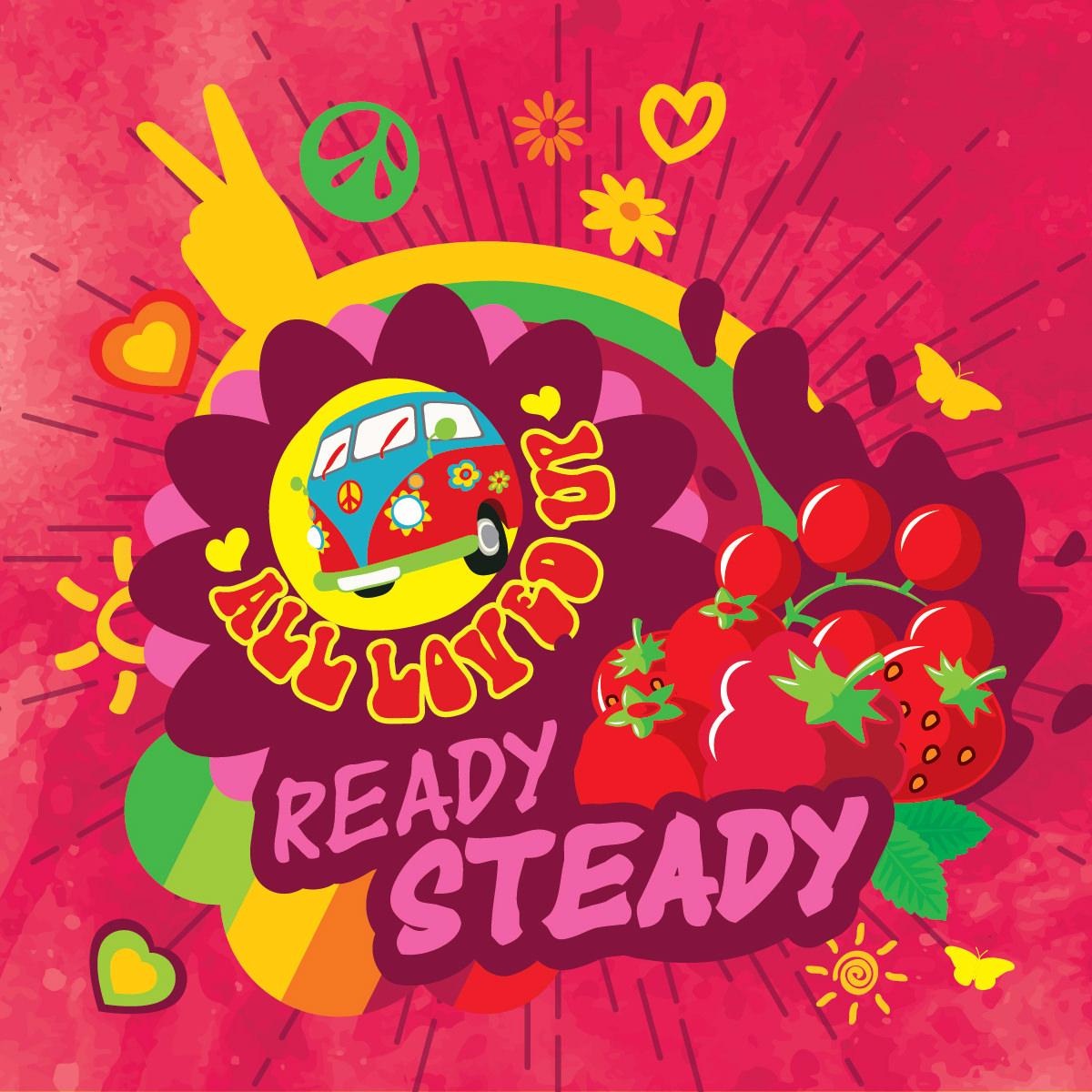 Příchuť Big Mouth All Loved Up - Ready Steady (Jahoda, malina, rybíz)