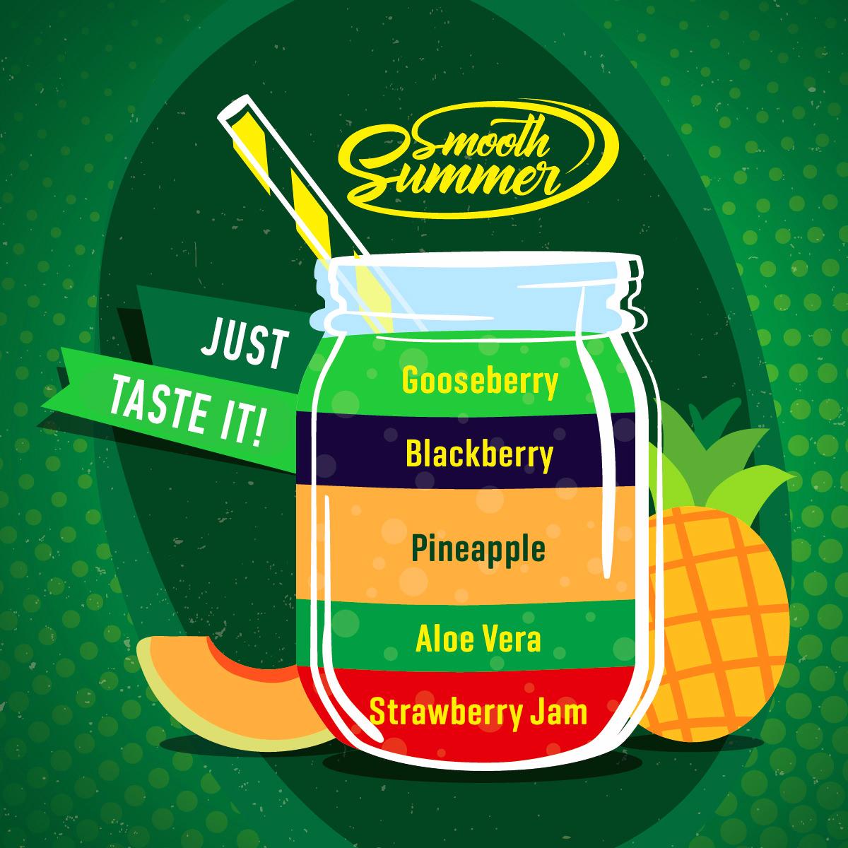Příchuť Big Mouth Smooth Summer - Ananas a angrešt