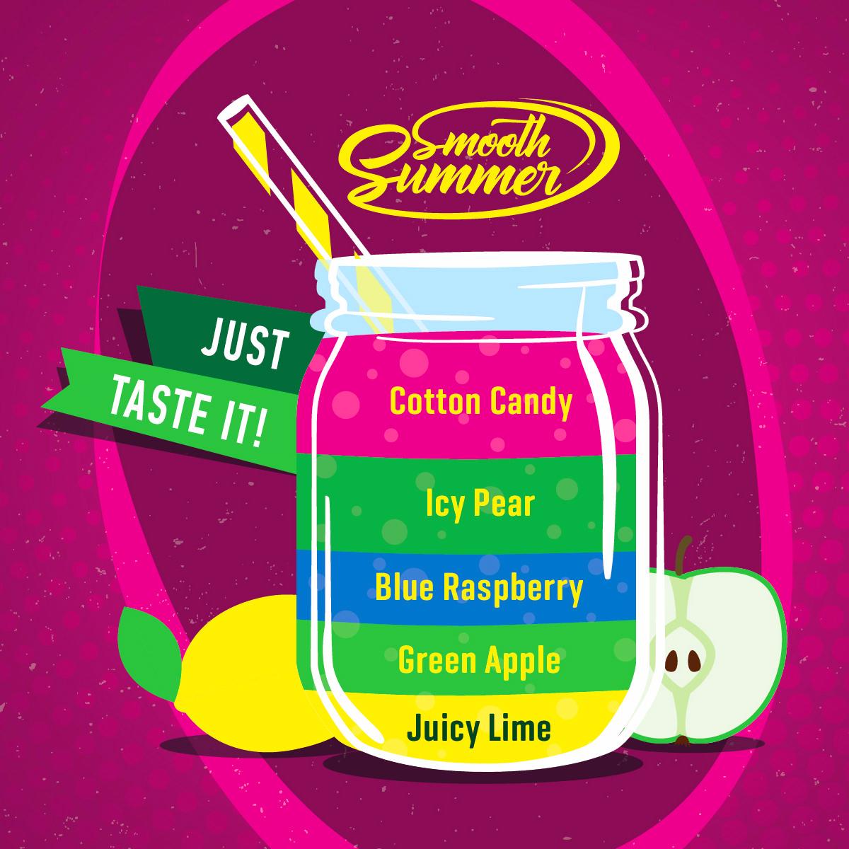 Příchuť Big Mouth Smooth Summer - Cukrová vata a ledová hruška