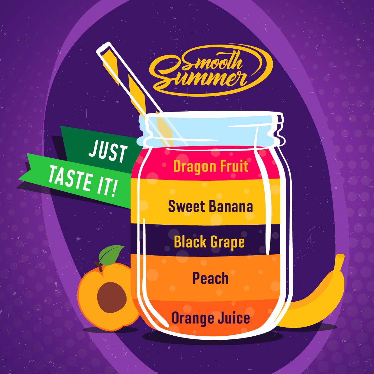 Příchuť Big Mouth Smooth Summer - Hroznové víno a banán