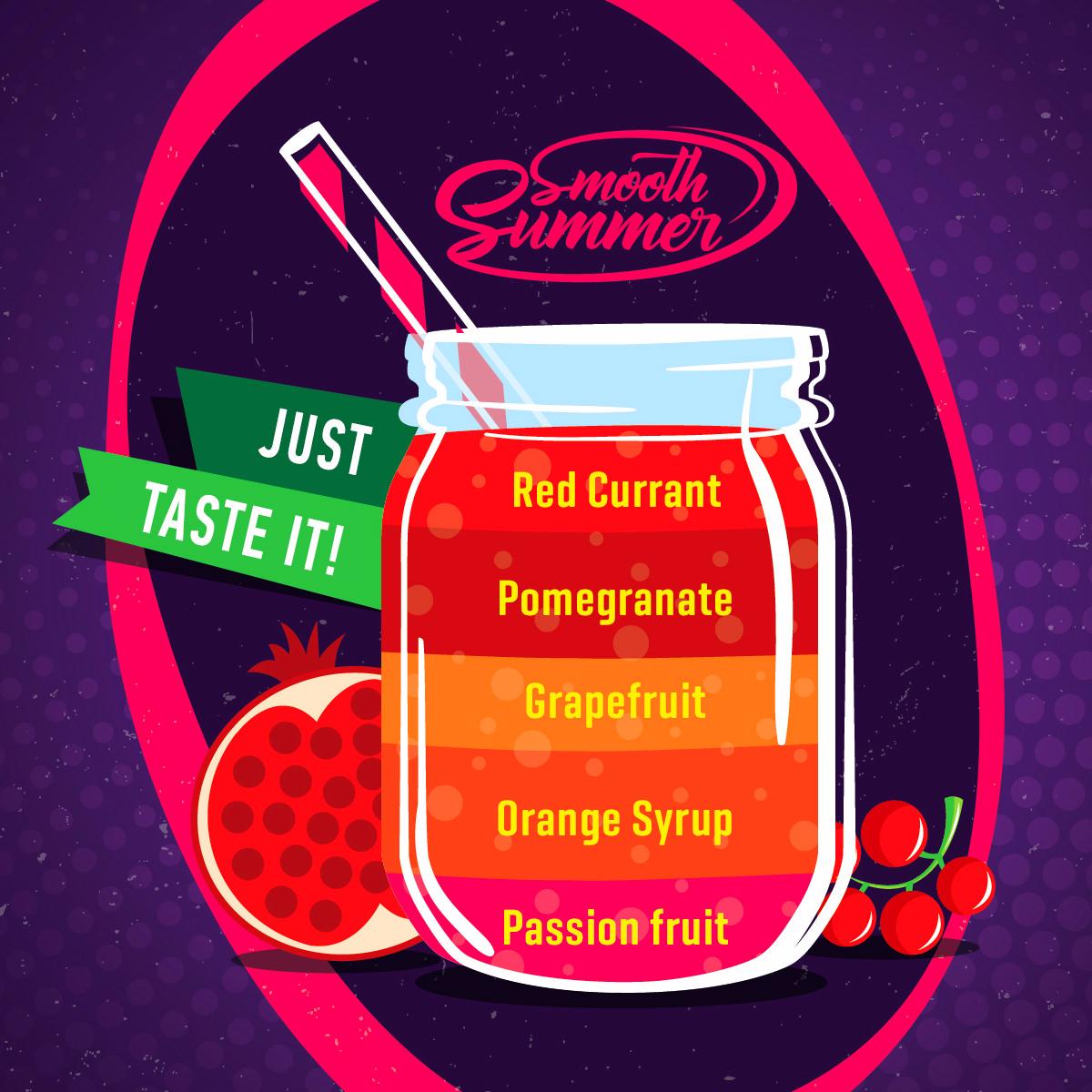 Příchuť Big Mouth Smooth Summer - Granátové jablko a pomerančový sirup