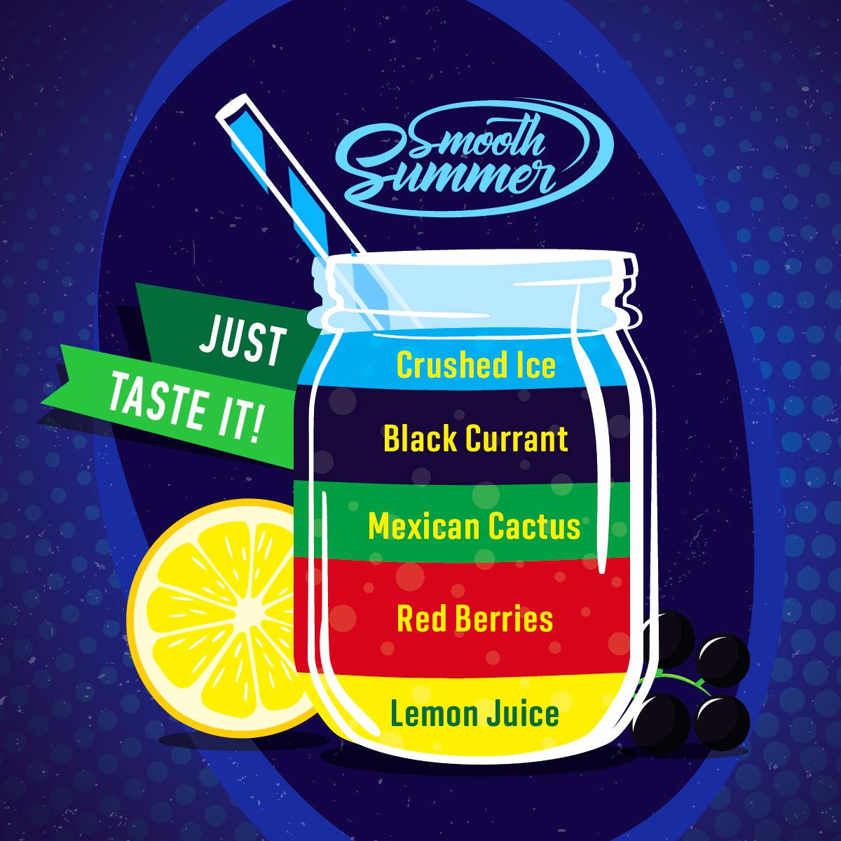 Příchuť Big Mouth Smooth Summer - Červené bobule a černý rybíz