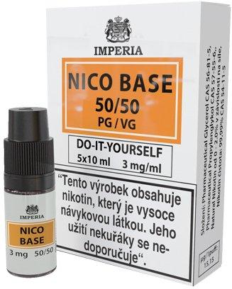 Nikotinová báze IMPERIA 5x10ml PG50/VG50 3mg