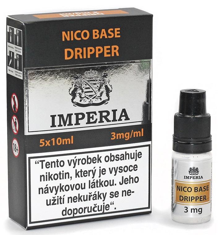 Nikotinová báze IMPERIA Dripper 5x10ml PG30/VG70 3mg