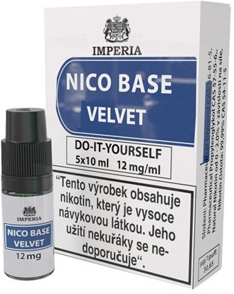 Nikotinová báze IMPERIA Velvet 5x10ml PG20/VG80 12mg