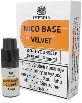Nikotinová báze IMPERIA Velvet 5x10ml PG20/VG80 3mg