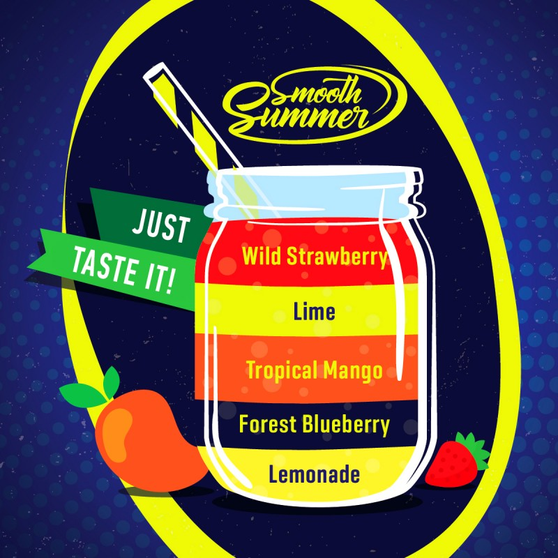 Big Mouth Smooth Summer Divoká jahoda/Limetka/Mango/Lesní borůvka/Limonáda 10ml