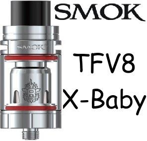 SMOK TFV8 X-Baby Clearomizér Stříbrná 4ml