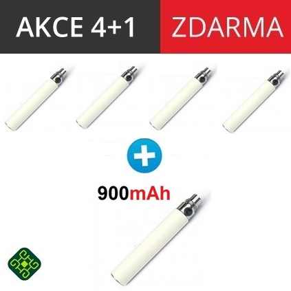 Baterie eGo 900mAh - bílá 4+1 zdarma