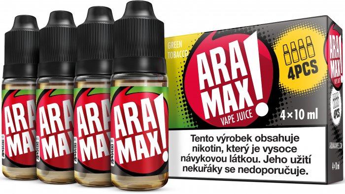 Aramax 4Pack Green Tobacco 4x10ml 3mg