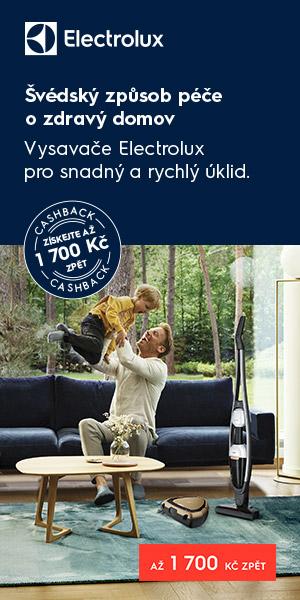 Švédský způsob péče o zdravý domov. Kupte si vysavač Electrolux a získejte až 1700 Kč zpět!