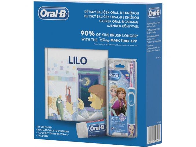 Oral-B Vitality D100 FROZEN + kniha + zubní pasta