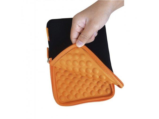 "Pouzdro na tablet GoGEN neoprenové - univerzal 8"" s bublinkami - černé/oranžové"