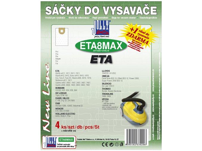 ETA Filtr Jolly MAX ETA 8 (4+1ks) do vysav.