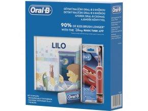 Oral-B Vitality D100 CARS + kniha + zubní pasta
