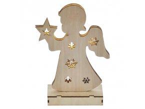 Emos ZY2090 dřevěný andělíček