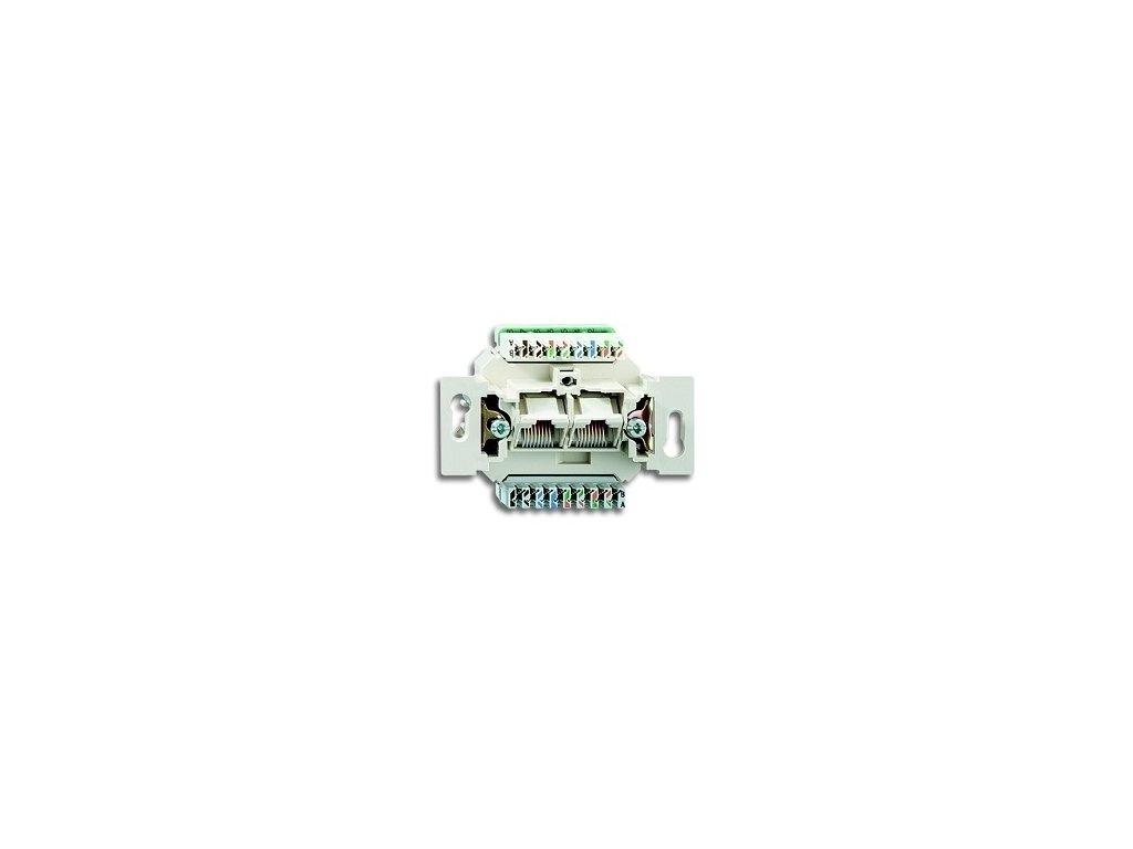 BASIC Prístroj zásuvky 2xRJ45 cat5e. UTP slonová kosť