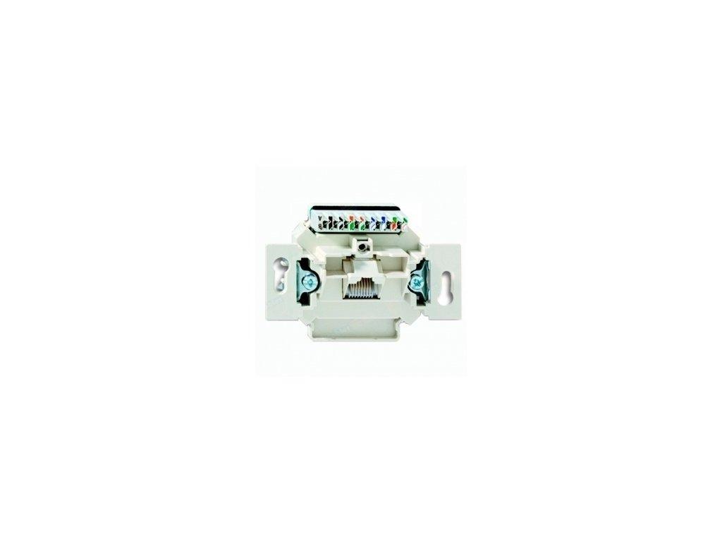 BASIC Prístroj zásuvky RJ45 cat.5e UTP slonová kosť